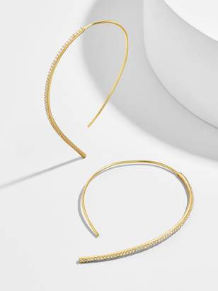 BaubleBar Lumina 18K Gold Plated Threader Hoops