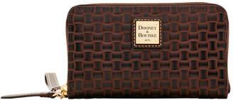 Dooney & Bourke Claremont Woven Zip Around Phone Wristlet