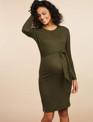 Motherhood Maternity Drop Shoulder Tie Detail Maternity Dress