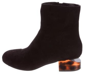 Alexander WangAlexander Wang Suede Round-Toe Ankle Boots