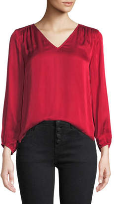 Velvet Rohana V-Neck Viscose Long-Sleeve Top