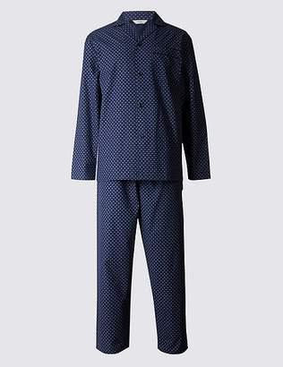 Marks and Spencer 2in Longer Cotton Blend Printed Pyjama Set