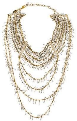 Erickson Beamon Crystal & Faux Pearl Collar Necklace