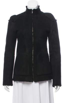Veronique Branquinho Suede Zip-Up Jacket