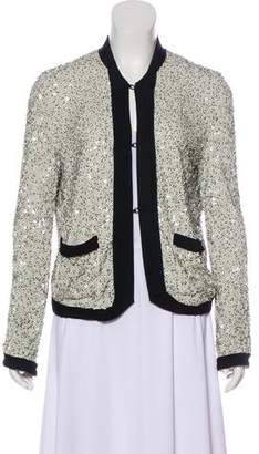 Lanvin Sequin Long Sleeve Jacket