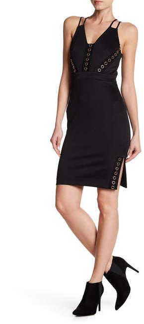 bebe Grommet Detailed Bodycon Dress