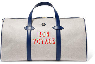 Paravel Main Line Duffel Leather-trimmed Printed Canvas Weekend Bag