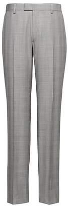 Banana Republic Monogram Slim Gray Plaid Wool Suit Pant