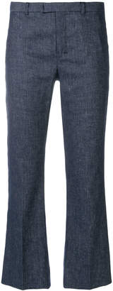 Max Mara 'S chambray cropped trousers