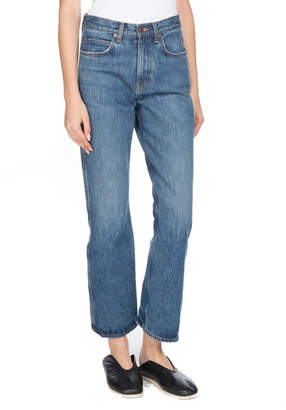 Proenza Schouler PSWL Cropped Flare Straight-Leg Jeans