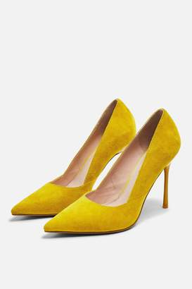 53f58bdef Topshop Womens Gigi Skinny Heel Court Shoes - Mustard