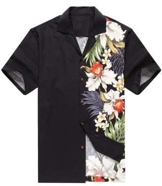 Hawaii Hangover Made in Hawaii Men's Hawaiian Shirt Aloha Shirt Side Floral ORchid Black