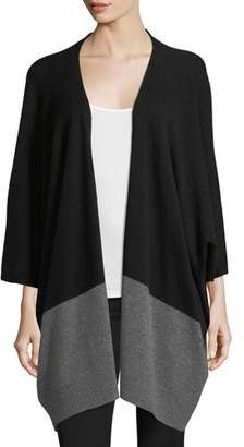 Neiman Marcus Colorblock Cashmere Kimono Cardigan