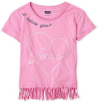 Levi's Girls 7-16) Logo Fringe Tee