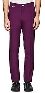 Ovadia & Sons Men's Track-Striped Wool Trousers-Purple