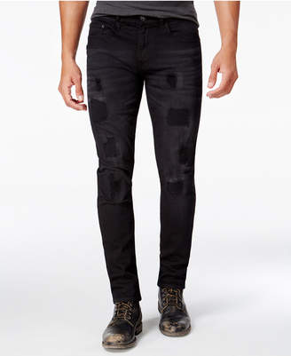 Ring of Fire Men's Slim-Fit Winston Wash Destructed Jeans, Created for Macy's $50 thestylecure.com