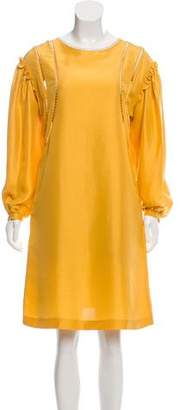 Alberta Ferretti Silk Knee-Length Dress