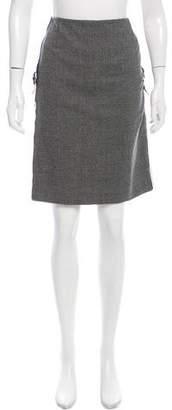 Alexander McQueen Virgin Wool Knee-Length Skirt