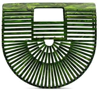 Cult Gaia green Ark mini acrylic tote bag