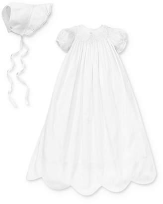 Kissy Kissy Girls' Scalloped Christening Gown & Bonnet Set - Baby