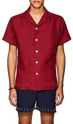 HECHO Men's Guayaber Embroidered Linen Shirt