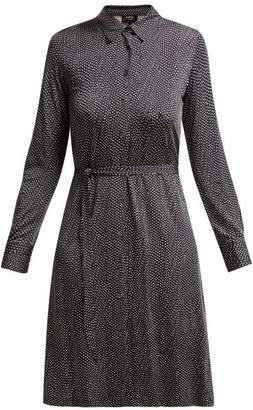 A.P.C. Coco Polka Dot Tie Waist Dress - Womens - Navy