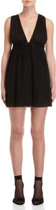 Giamba Black Lace Babydoll Dress