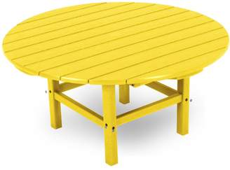 Polywood Bright Round Conversation Table - Outdoor