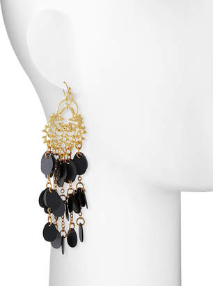 Panacea Filigree & Disc Drop Earrings