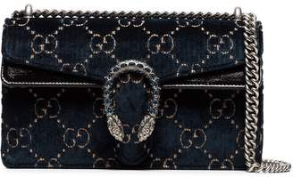 Gucci Dionysus leather-trimmed embossed velvet bag