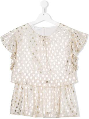 Elsy polka dot blouse