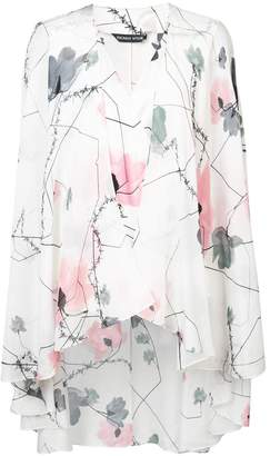 Thomas Wylde v-neck floral print blouse