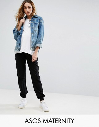 ASOS Maternity Basic Joggers with Tie $29 thestylecure.com
