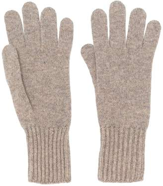 Pringle ribbed cuff gloves