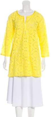 Calypso Hester Eyelet Tunic Top w/ Tags Yellow Hester Eyelet Tunic Top w/ Tags