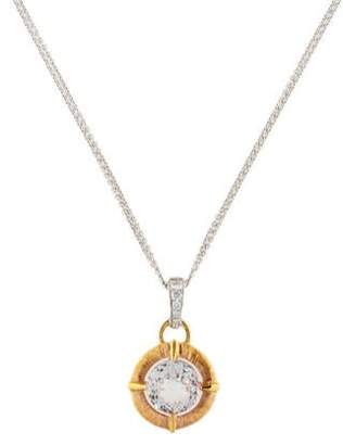 Frederic Sage 18K Topaz & Diamond Pendant Necklace