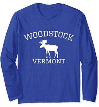 Woodstock Vermont Moose Long Sleeve T-Shirt