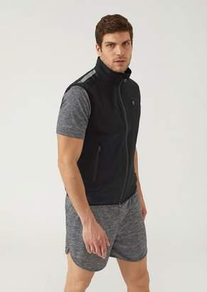 Emporio Armani Ea7 Full-Zip Stretch Fabric Gilet