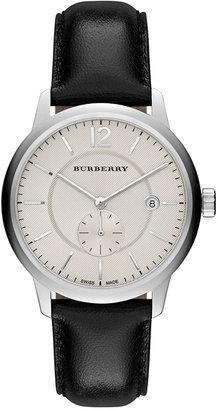 Burberry Unisex Swiss Black Leather Strap Watch 40mm BU10000 $695 thestylecure.com