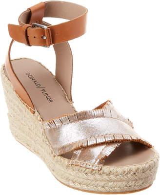Donald J Pliner Ines Leather Wedge Sandal