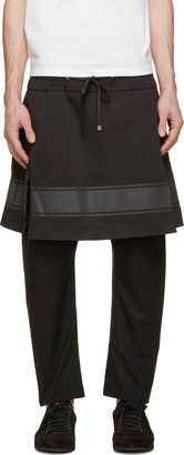 D.Gnak by Kang.D Black Layered Lounge Pants $510 thestylecure.com