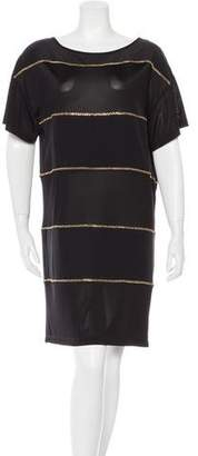 See by Chloe Wool-Blend Embellished Dress