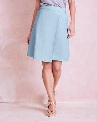 Fashion World Linen Mix Knee Length Asymmetric Skirt
