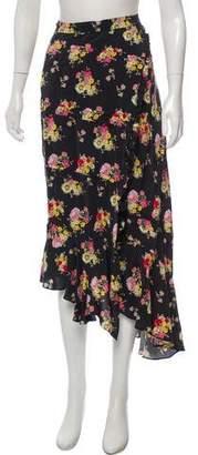 Preen Line Asymmetrical Floral Print Maxi Skirt