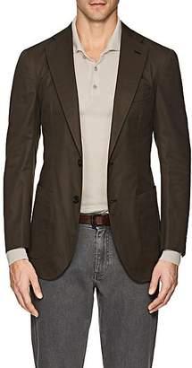 P. Johnson Men's Cotton Two-Button Sportcoat - Olive
