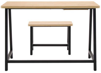 Offex 2 Piece Homeroom Writing Desk and Bench Set