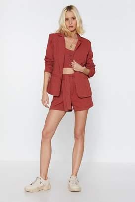 30996e439f4b Nasty Gal It's Your Line Pinstripe Tailored Blazer