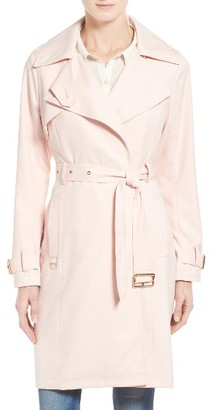 Women's French Connection Flowy Belted Trench Coat $148 thestylecure.com