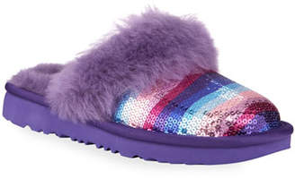 UGG Cozy II Rainbow Printed Sequin Slippers, Toddler/Kids