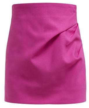 Jacquemus Bambola Draped Wool Canvas Mini Skirt - Womens - Pink